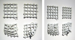 scultpture, grid and point, square
