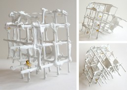 sculpture, gridded space 1-1